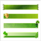 Set of 4 isolated St Patrick banners Stock Photography