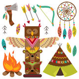 Set of isolated tribal elements Stock Photos