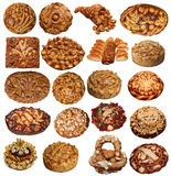 Set of Isolated Ukriinian festive Breads Royalty Free Stock Image