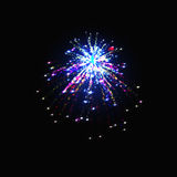 Set of isolated vector fireworks on a transparent background. Eps10. set of isolated vector fireworks on a transparent background Royalty Free Stock Image