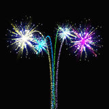 Set of isolated vector fireworks Royalty Free Stock Photo