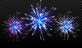 Set of isolated vector fireworks on a transparent background. Eps10. set of isolated vector fireworks on a transparent background Stock Images