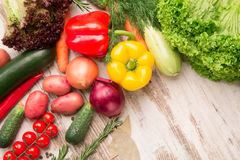 Set of isolated vegetables part stock photo