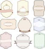 Labels. Set of isolated vintage labels - design elements Stock Photography