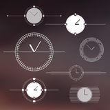 Set of isolated watch design elements. Royalty Free Stock Image