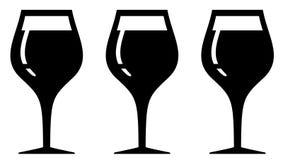 Set isolated wine glasses Royalty Free Stock Photo