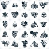 Set of isometric abstract vector geometric shapes. Stock Photo