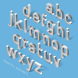 Set of Isometric Alphabets. Vector Illustration Royalty Free Stock Photo