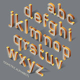 Set of Isometric Alphabets. Stock Photography