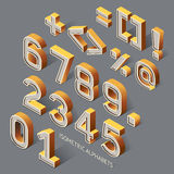 Set of Isometric Alphabets. Stock Images