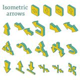 Set of isometric arrows Stock Photo