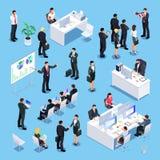 Set isometric biznesmeni ilustracja wektor