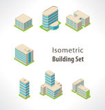Set Isometric  building. Royalty Free Stock Photography