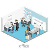 Set of isometric business people , info graphic  design Royalty Free Stock Photos