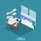 Set of isometric business people , info graphic  design Royalty Free Stock Images