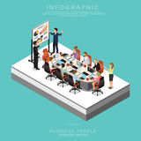 Set Of Isometric Business People Teamwork Meeting In Office Set D Royalty Free Stock Photography