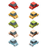 Set of isometric car icons2 Stock Photos