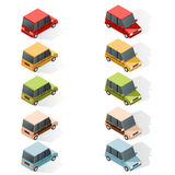 Set of isometric car icons Royalty Free Stock Photos