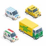 Set of the isometric cars Stock Photo