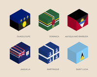 Set of isometric 3d boxes Royalty Free Stock Images