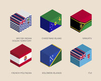 Set of isometric 3d boxes Stock Image