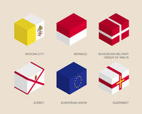 Set of isometric 3d boxes Royalty Free Stock Photography