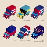 Set of isometric 3d cargo Stock Photography