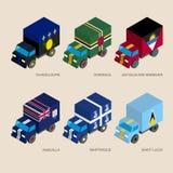 Set of isometric 3d cargo Royalty Free Stock Photos