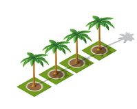 Set isometric 3D palma Royalty Ilustracja