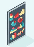 Set of isometric diagram Royalty Free Stock Images