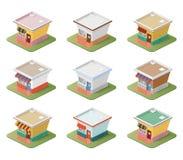 Set isometric domy Zdjęcie Stock