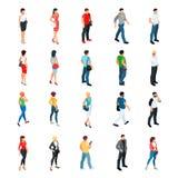Set isometric ludzie odizolowywający na białym tle Obrazy Stock