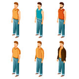 Set of isometric men icons Royalty Free Stock Photos