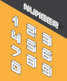 Set of the isometric numbers. Vector illustration Royalty Free Stock Photos