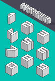 Set of the isometric numbers Royalty Free Stock Images