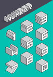Set of the isometric numbers. Vector illustration Stock Photo