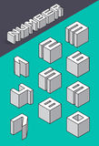 Set of the isometric numbers Royalty Free Stock Photo