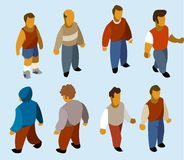 Set of Isometric People Royalty Free Stock Image