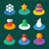Set of isometric vector flat icons Stock Photography