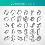 Set of 30 isometric vector icons Stock Image