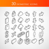 Set of 30 isometric vector icons Stock Photo