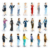 Set of isometric  vector standing  women Stock Photography