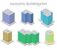 Set isometrische Gebäude Lizenzfreie Stockfotos