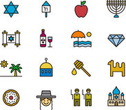 Set of Israel related icons Stock Image