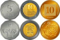 Set Israeli silver money shekel coins Stock Image