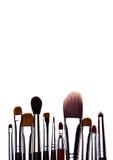 Set istotni fachowi makijaży muśnięcia Zdjęcie Stock