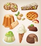 Set of italian desserts Royalty Free Stock Image