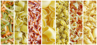 Set of italian pasta Stock Photos