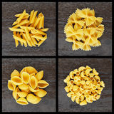 Set of italian pasta Stock Photos