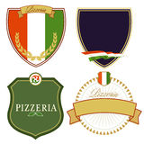 Set of Italian signs Stock Images